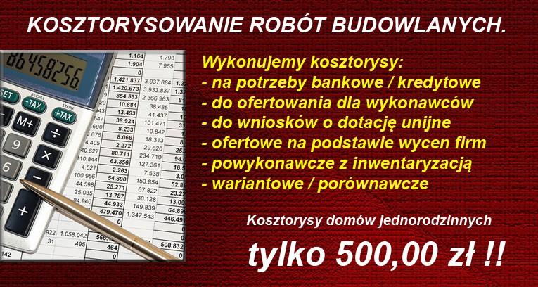 Kosztorysy budowlane - Kraków.